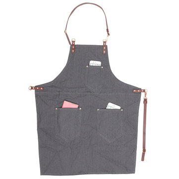 Denim Fabric Apron Dustproof Worker Nail Artist Barber
