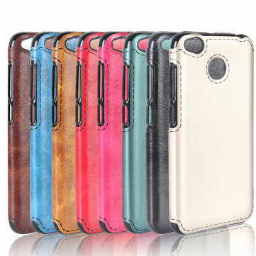 Luxury Retro PU Leather Soft TPU Protective Case For Xiaomi Redmi 4X/Redmi 4X Global Edition