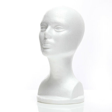 Styrofoam Mannequin Foam Head Model Glasses Hat Wig Display Stand