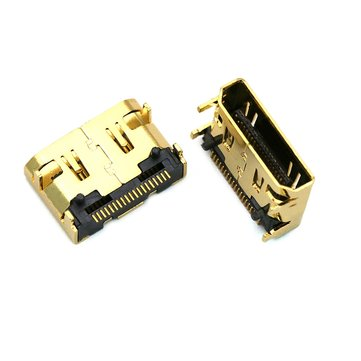 2 PCS MINI HD Port 19P SMT SMD Socket Female HD Connector Gold-plated