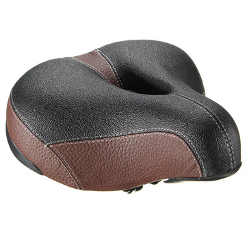 BIKIGHT Bike Thick Soft Foam Black Spring Comfort Wide Saddle Seat