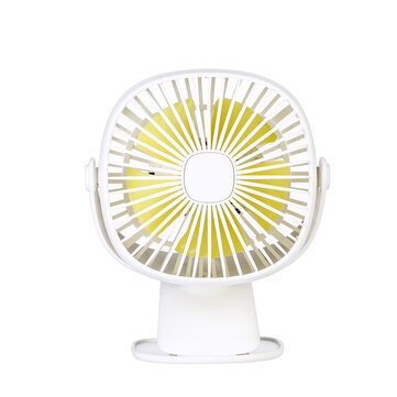 Loskii HF-201 Mini Electronic Desktop Clamp Design LED Night Light USB Rechargeable Silent 3 Grade Adjustment Fan