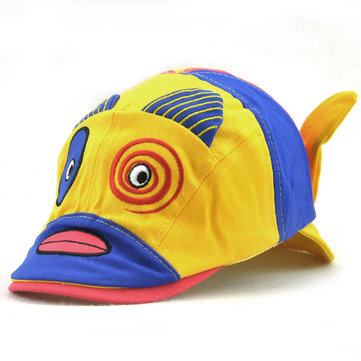Kids Cotton Cute Animal Pattern Beret Cap Patchwork Casual Outdoor Sun Patch Flat Hat