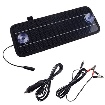12V 4.5W Portable Solar Panel Power Battery Charger Backup For Car Boat Automobile