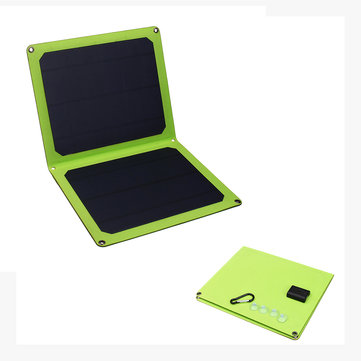 5V 14W Portable Folding Single Crystal Solar Panel with USB Socket for Outdoor