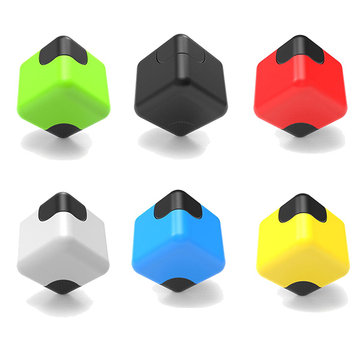 MATEMINCO New Square Finger Gyro Creative EDC Cube Hand Fidget Spinner For Decompression