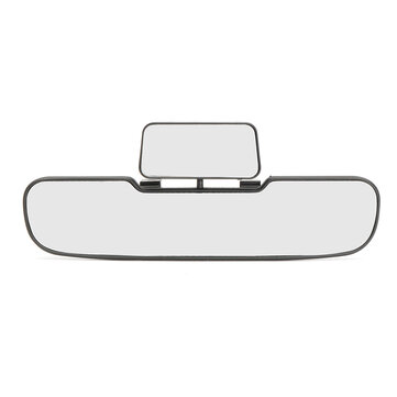 Car Van Wide Angle Curved Interior Rear View Double Mirror Clear Lens