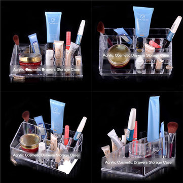 Clear Makeup Organizer Acrylic Cosmetics Display Drawers Make Up Storage Case