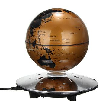 6 inch magnetic levitation floating globe world map maglev with 8 6 inch magnetic levitation floating globe world map maglev with 8 led decor light gumiabroncs Gallery