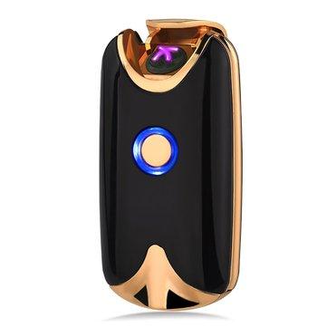 KCASA KC-8017 Intelligent USB Arc Lighter Dual Fire Arc Lighter Fingerprint Induction Charging Metal Windproof No Gas Electronic Lighter Windproof Lighter