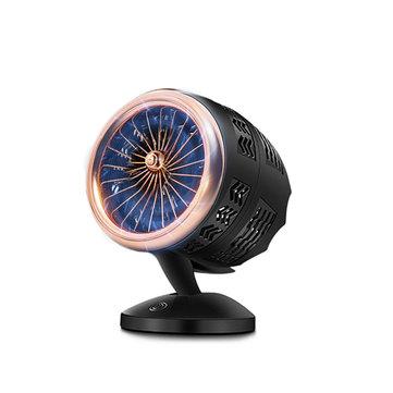 KCASA FCSY-380 USB Creative Hawkeye Turbo Fan Mini Fan Double-blade Fan Air Cooler Two Speed Control Cooling Fan