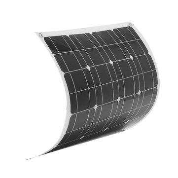Elfeland® EL-04 50W 12V 560*540mm Flexible Solar Panel + 1.5m Cable For RV Boat Battery Charger