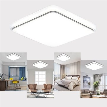 24W 1000LM LED Flush Mount Ceiling Light Sqaure Ultrathin Fixture for Kitchen Bedroom AC110V-240V