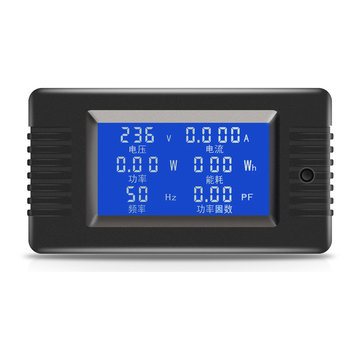 PZEM-018 5A AC Digital Display Power Monitor Meter Voltmeter Ammeter Frequency Current Voltage Factor Meter
