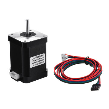 17HS6001S 4-lead Two Phase Hybrid Nema17 42-60mm 1.2A Stepping Motor With 1M DuPont Cable For 3D Printer CNC Part