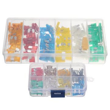 2 Boxes Auto Car Van Truck DG 120pcs Standard & 80pc Mini Blade Fuses Assortment