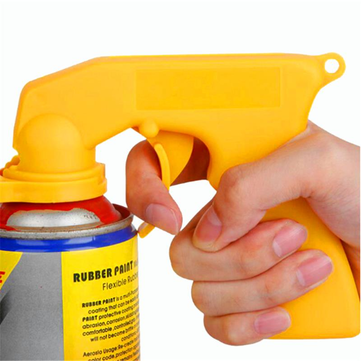 Spray Adaptor Paint Care Aerosol Spray Gun Handle with Full Grip Trigger Locking Collar Tools Kit