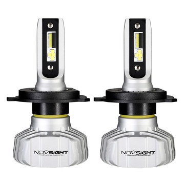 Pair NovSight A500-N15 50W 10000LM LED Car Headlights Bulbs H1 H3 H4 H7 H11 9005 9006 6500K White