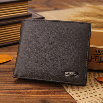 Men Genuine Leather Vintage Business Wallet Card Holde