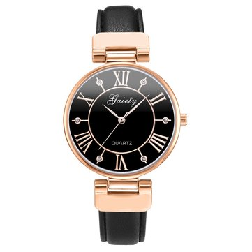 Simple Designed Rose Gold Case Vintage Ladies Wrist Watch