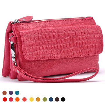 Women Stone Pattern Clutches Bags 3 Interlayers Shoulder Bags Crossbody Bags