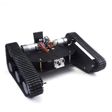 DIY Tracked Tank Chassis Kit Crawler Remote Control Robot Car with DC Motor