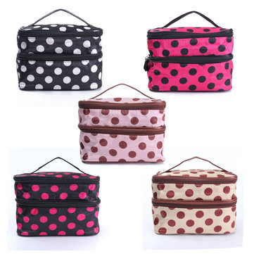 Makeup Bag Dot Cosmetic Toiletry Organizer Travel Storage Case