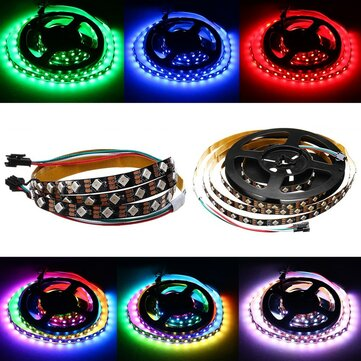 DC5V 1M 2M 12W 24W WS2812 IC SMD5050 Module Bead Tilt 45° Non-waterproof RGB LED Strip Light