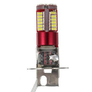 H3 3014/4014 57SMD LED DC12-24V 250mA White 6000K Car Fog Light
