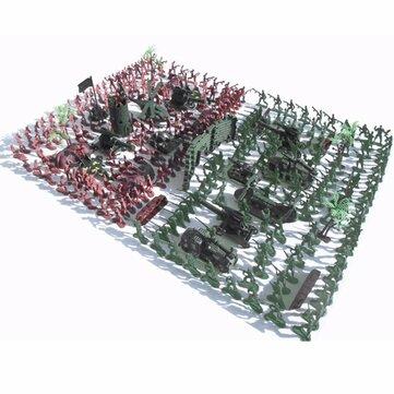 270Pcs Военный Солдаты Toy Набор Army Men Цифры и аксессуары Модель для песка Коробка