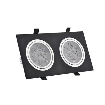 6W/10W/14W/18W/24W/30W/36W Double-heads Black LED Ceiling Recessed Light Down Light 85-260V