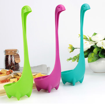 KCASA KC-W002 Creative Nessie Soup Ladle Toughened 100% Food Grade Safe Loch Ness Monster Stand Upright Kitchen Utensil