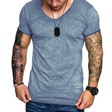 Men's Cotton Slim Short Sleeve Casual T-shirts