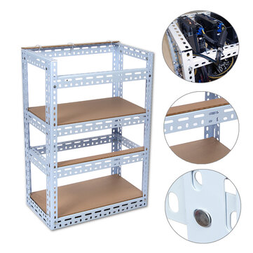 Steel 2-Layer Crypto Coin Bitcoin Mining Rig Open Air Frame Case Set For 12 GPU