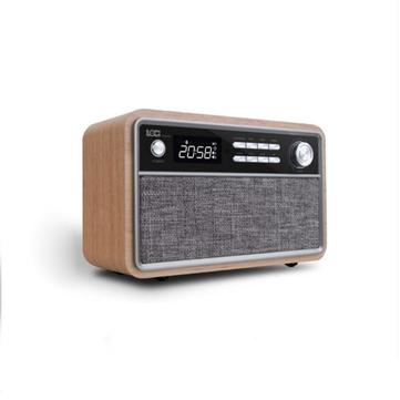 Loci D29 Retro Multifunction Wood Bluetooth Speaker With FM Radio Clock