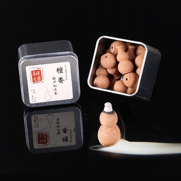 16Pcs/Box Backflow Incense Cones Gourd Shape Sandalwood Fragrance Burner Cone