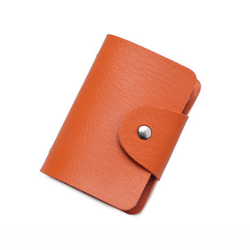 Honana HN-PB3 PU Leather Credit Card Holder 10 Colors 24 Card Slots Organizer