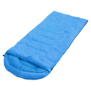 Outdoor Camping Single Sleeping Bag Waterproof Envelope Hooded Sleeping Pad Autumn Winter