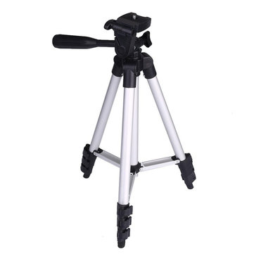 Extendable Aluminum Tripod Mount Stand Standard 1/4 Inch Screw Holder Photo Tripod Tripe