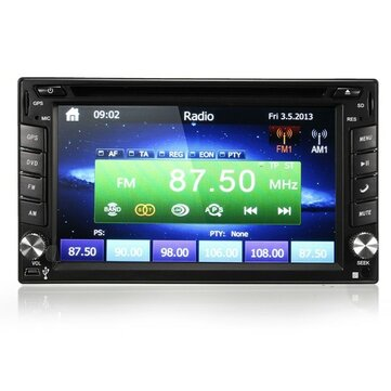 GPS Navigation HD 2DIN 6.2 Inch Car Stereo DVD Player Bluetooth iPod MP3 Camera