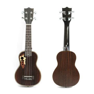 21 Inch Professinal Soprano EQ Electro Acoustic Ukulele Uke 15-Frets Hawaii Guitar
