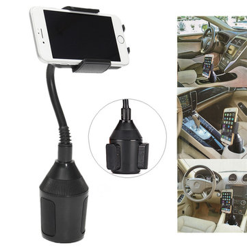 Universal Car Cup Adjustable Gooseneck Rotation Holder Phone Stand for Cell Phone iPhone X Xiaomi