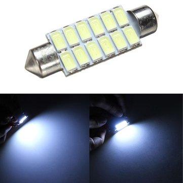 42MM 5630 12SMD Festoon Dome Map Interior LED Light Lamp BulbReading Light