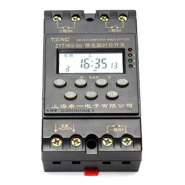 ZYT16G-3a 220V Din Rail Waterproof Multi Channel Automatic Programmable Timer Switch