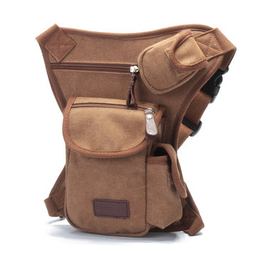 Ekphero Men Canvas Waist Bag Leg Bag Crossbody Bag