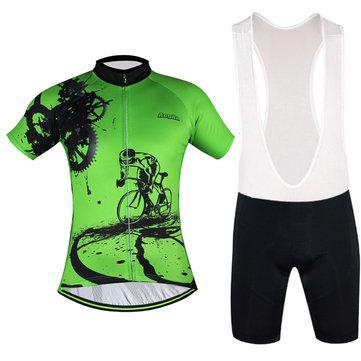 Men Breathable Comfortable Padded Short Sleeve Bike Cycling Clothing Set