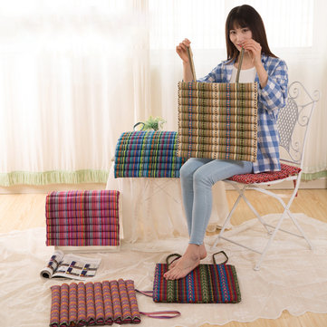 40 x 40cm Flower Seat Cushion Buttocks Chair Cushion Soft Linen Outdoor Square Cotton Pad Decoration
