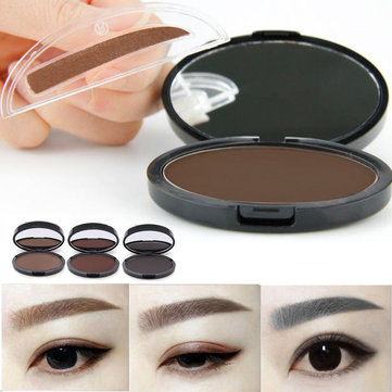 Grey Brown Makeup Eyebrow Gel Brow Stamp Powder Seal Waterproof Eyes Cosmetic Black Head Brush Tools