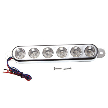 12V Strobe LED Red/Blue Running Brake Light For Motorcycle Scooter