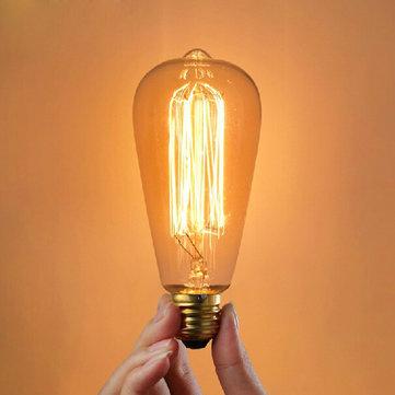 E27 25W Incandescent Bulb 220V ST64 Retro Edison Light Bulb